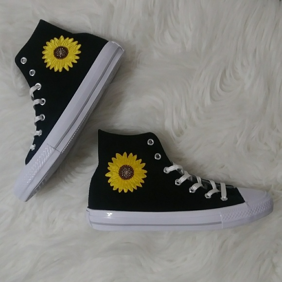 custom sunflower converse